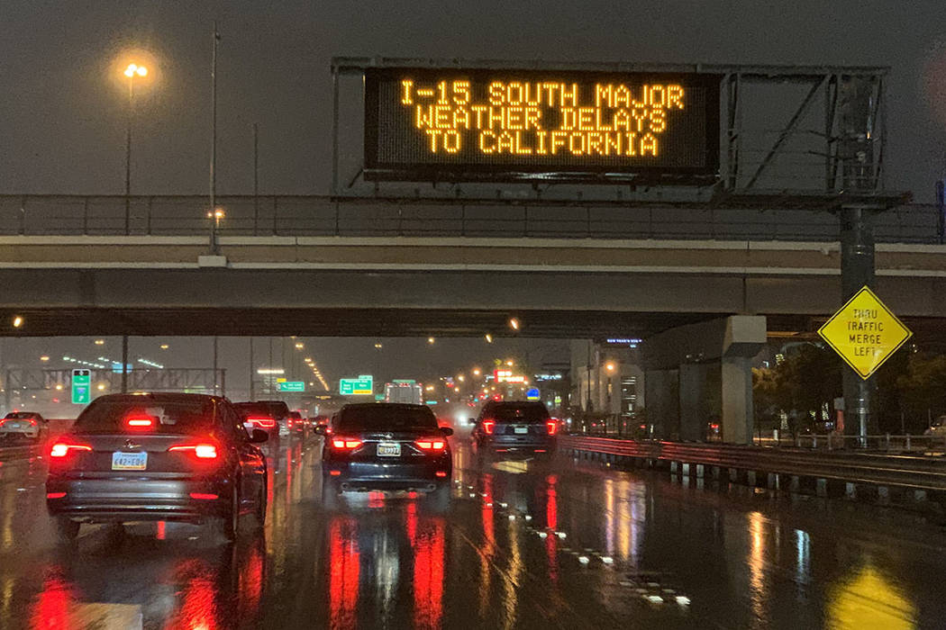 Las Vegas Weather: Snowy conditions close Interstate 15 at ... on weather phone, weather rates, weather activities,