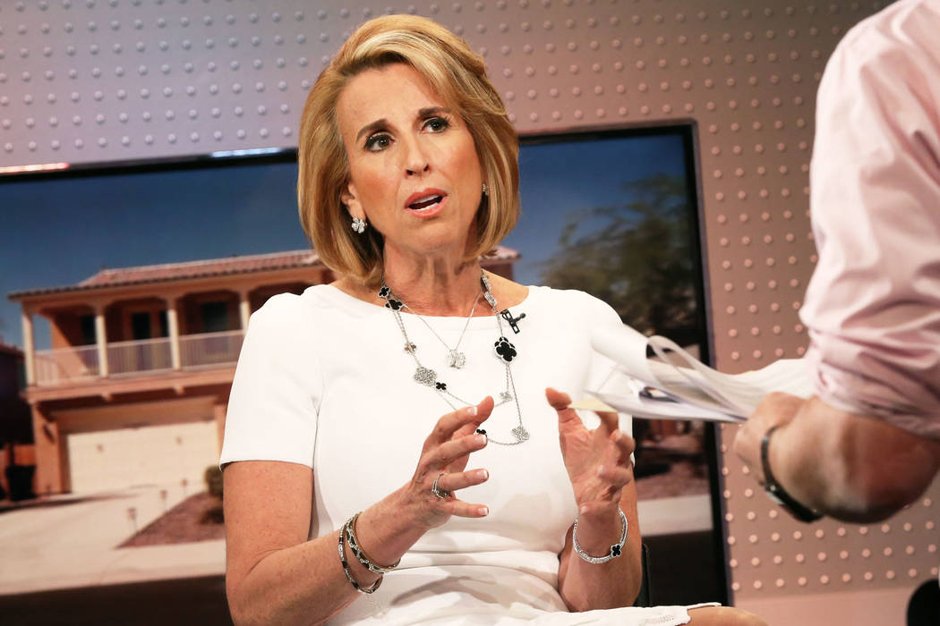 Sheryl Palmer, CEO of Arizona-based builder Taylor Morrison, worked in Las Vegas as an area pre ...