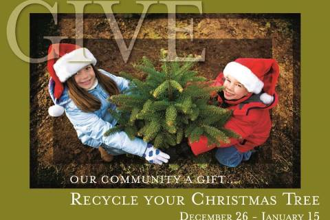 Summerlin residents can recycle their Christmas trees at a new Christmas Tree recycling lot on ...