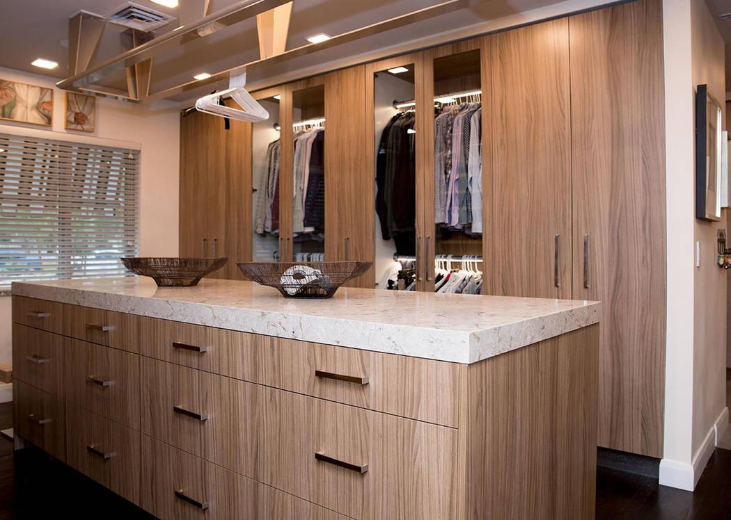 The closet is modern. (Tonya Harvey Real Estate Millions)
