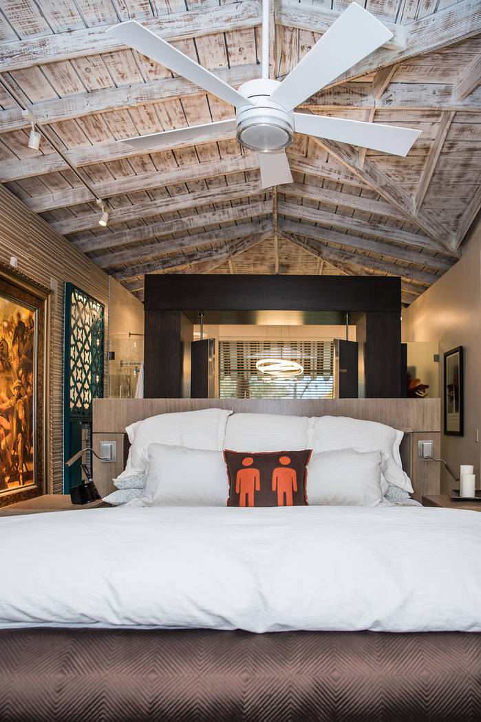 The master bedroom is in the original structure. (Tonya Harvey Real Estate Millions)