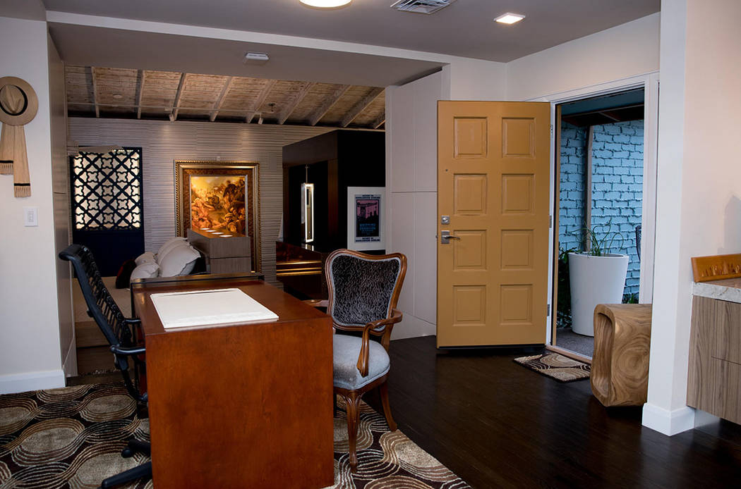 AFTER: What was the home's front door now opens to a patio. (Tonya Harvey Real Estate Millions)