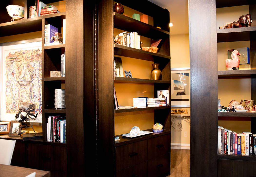 There is a secret door that leads to guest rooms. (Tonya Harvey Real Estate Millions)
