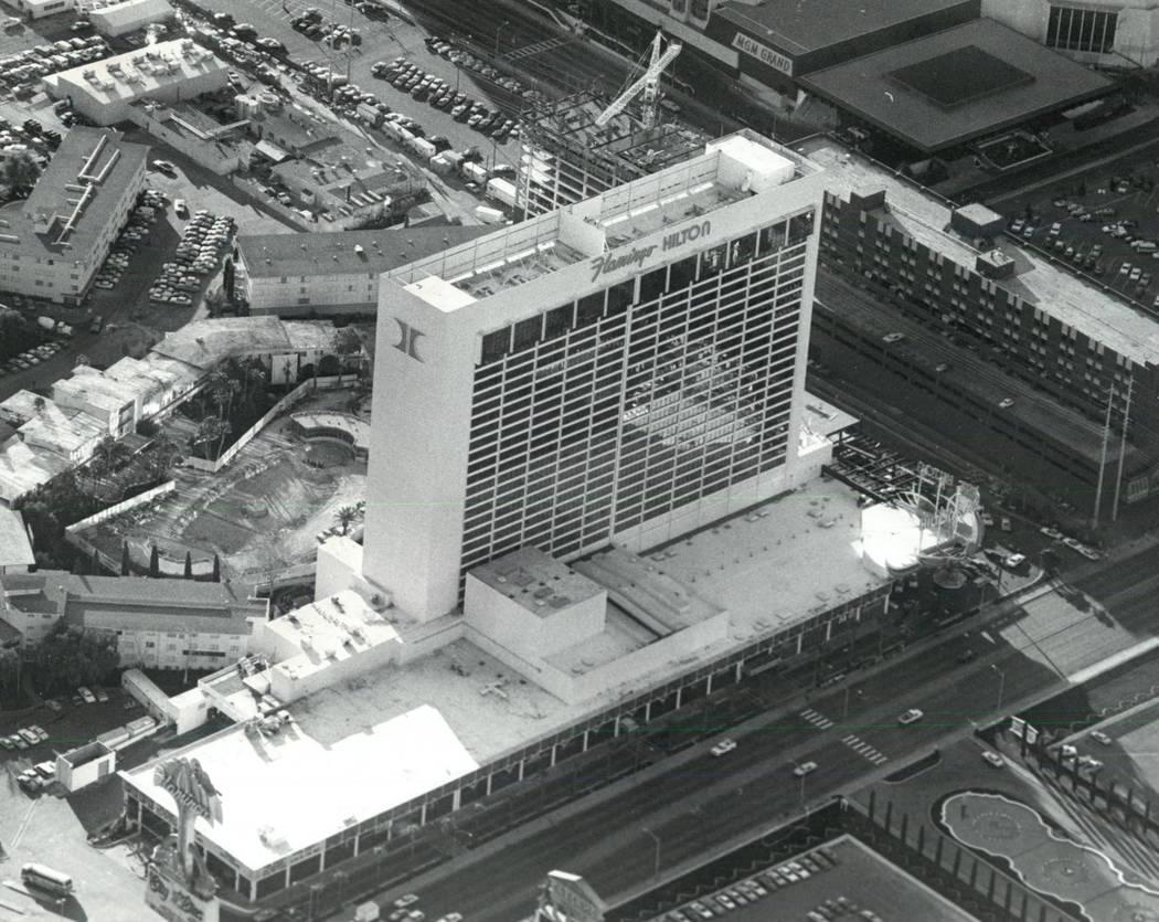This March, 1982, file photo shows Flamingo Hilton in Las Vegas. (Las Vegas Review-Journal, File)