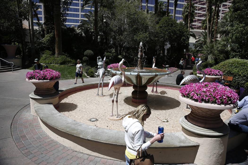 The Flamingo Wildlife Habitat at the Flmaingo casino-hotel in Las Vegas, Thursday, April 19, 20 ...