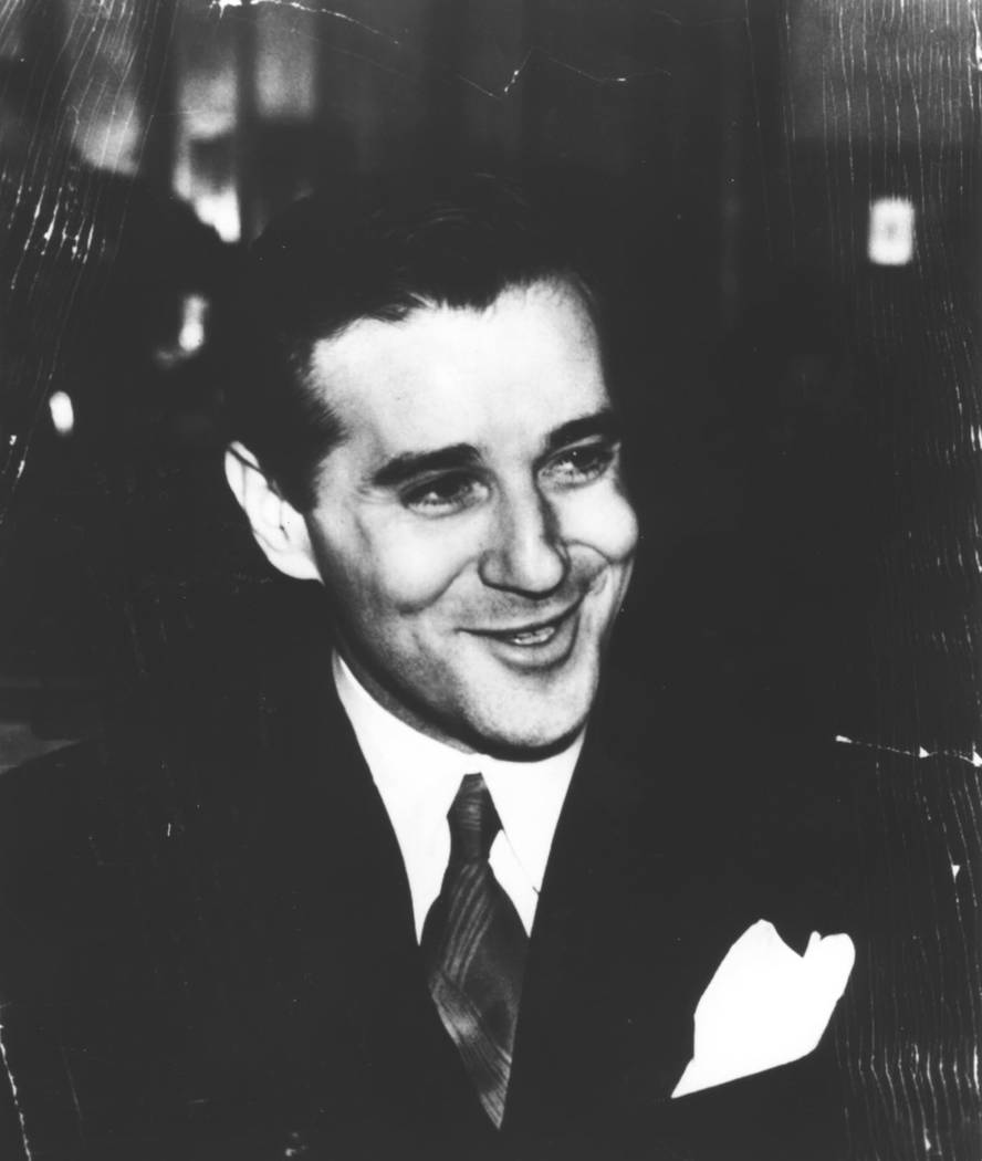 """Benjamin """"Bugsy"""" Siegel, who invisioned and operated The Flamingo hotel-casino is sho ..."""