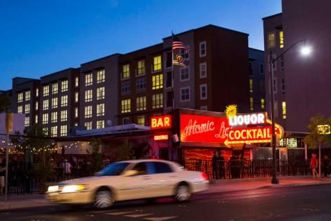 Atomic Liquors in downtown Las Vegas on Friday, June 22, 2018. (Chase Stevens Las Vegas Review- ...