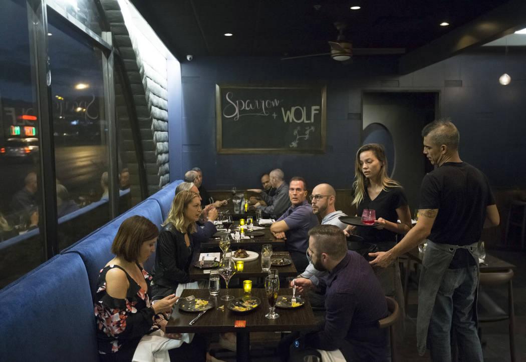 Guests enjoy dinner at Sparrow + Wolf on Thursday, Nov. 2, 2017, in Las Vegas. Benjamin Hager L ...