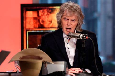 In this May 29, 2015, file photo, cable television and radio personality Don Imus appears on hi ...