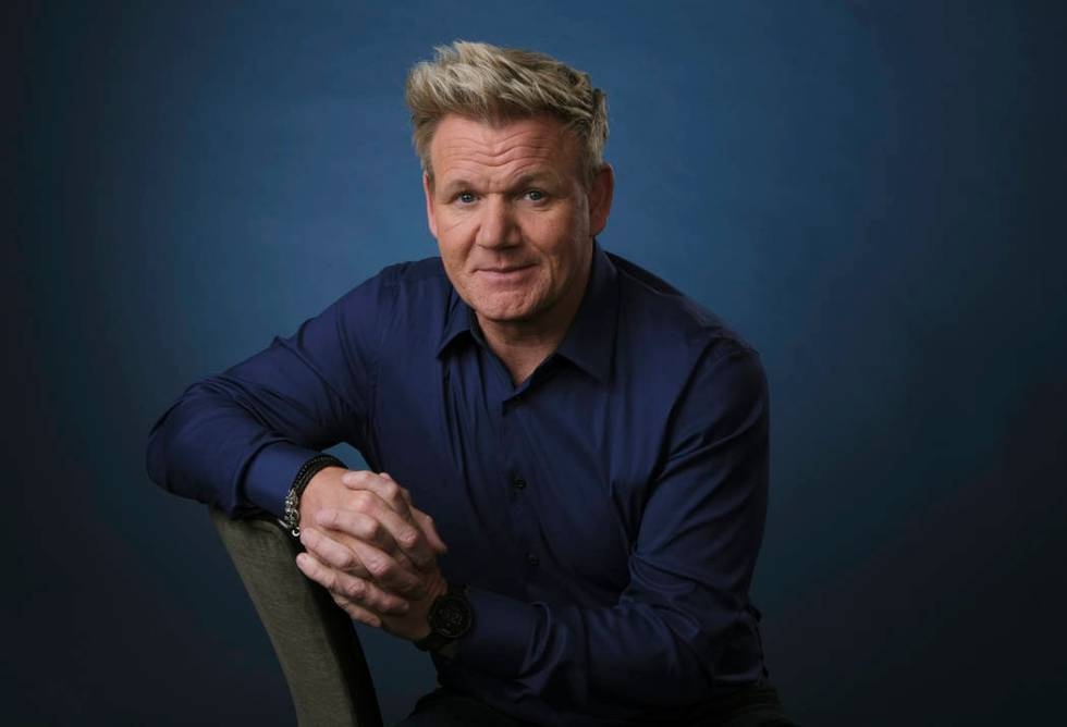 This July 24, 2019 photo shows chef and TV personality Gordon Ramsay posing for a portrait to p ...