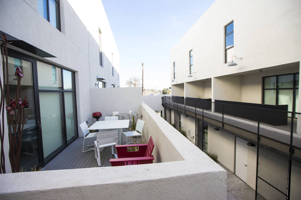 A view of residential units at The Lucy, a multipurpose creative residency created by Beverly R ...