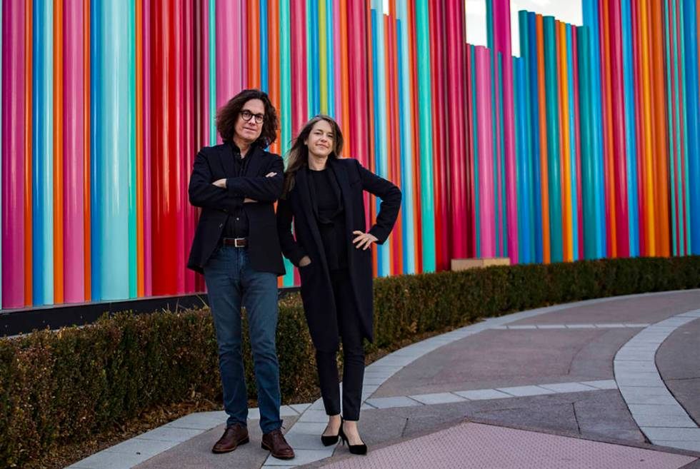 David Walker, the CEO of the Nevada Museum of Art, and Heather Harmon, the deputy director of t ...