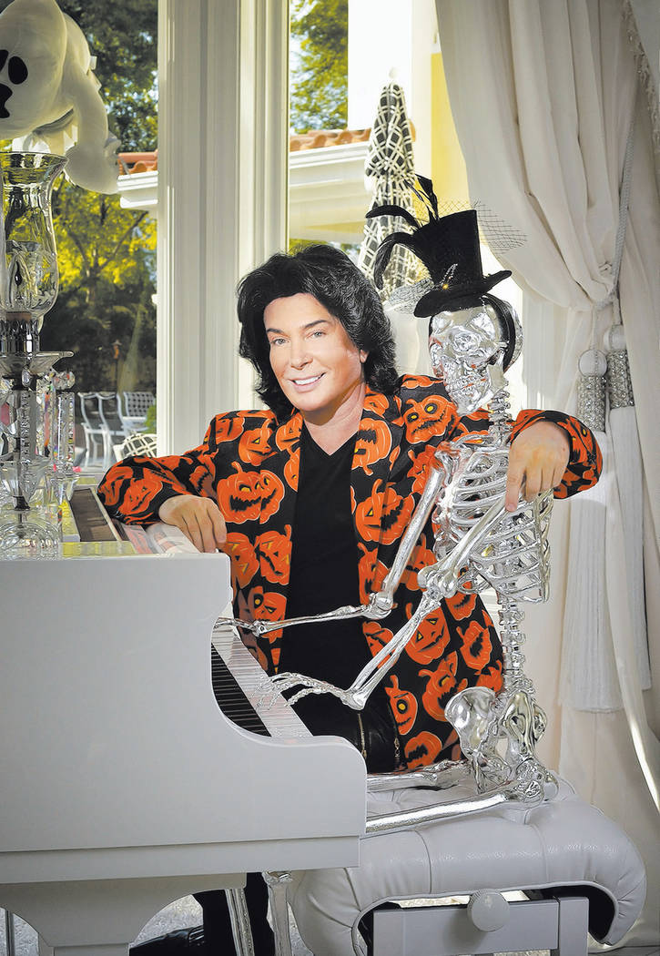 Las Vegas entertainer Frank Marino shows off his Halloween decorations. (Bill Hughes Real Estat ...