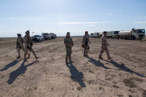 Army commanders tour the operations sectors of the Iraqi army Seventh Brigade, at the start of ...