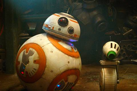 """Droids BB-8, left, and D-O are seen in a scene from """"Star Wars: The Rise of Skywalker."""" (Lucasf ..."""