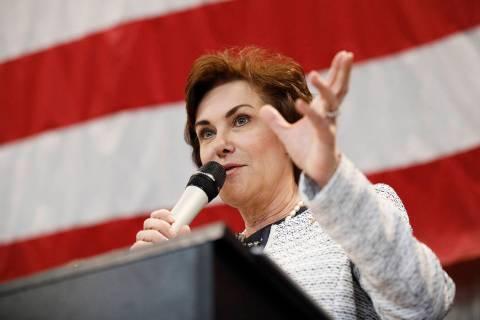 Sen. Jacky Rosen, D-Nev., speaks at the Battle Born Progress Progressive Summit, Saturday, Jan. ...
