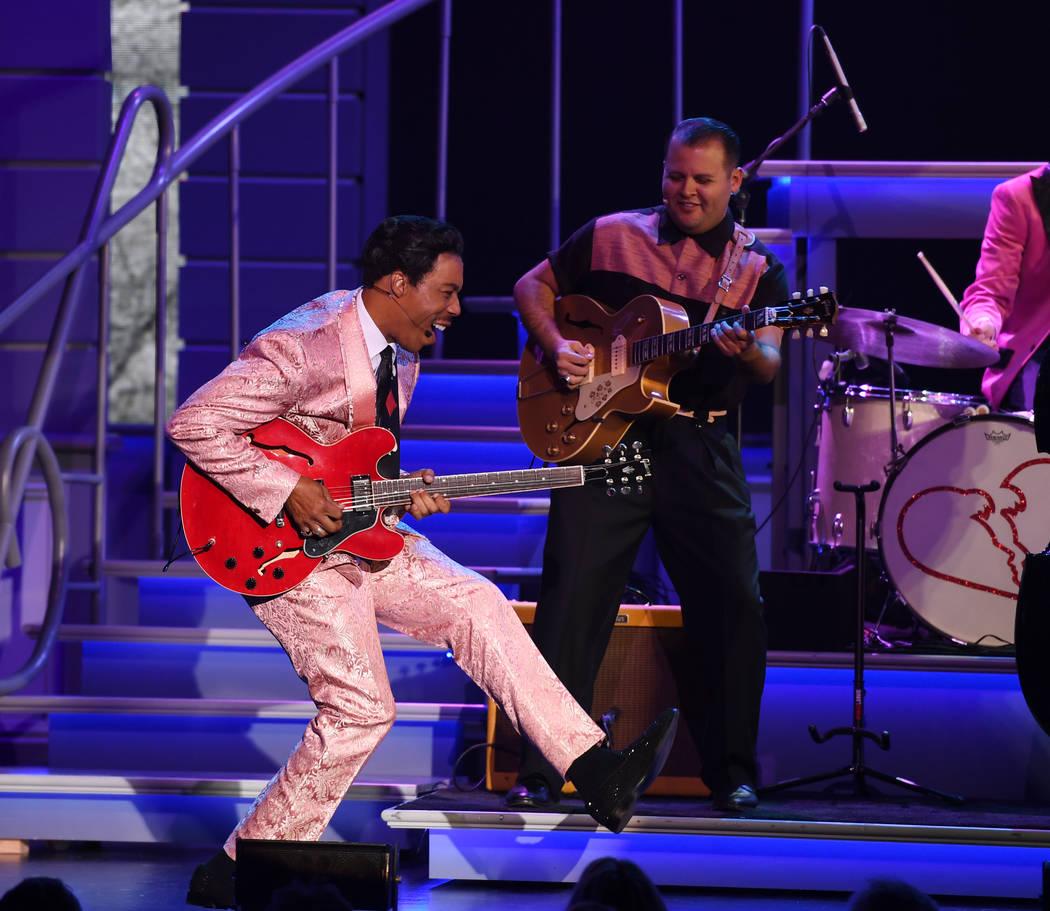 """Geno Henderson is shown in a scene from """"Elvis Presley's Heartbreak Hotel the Concert,"""" in resi ..."""