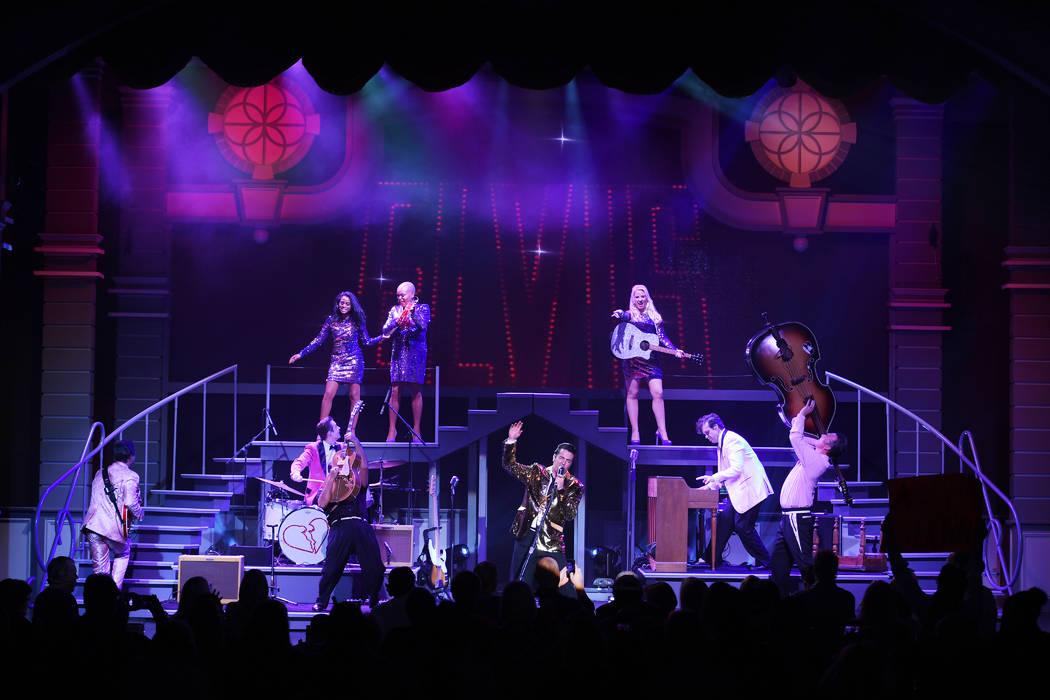 "A scene from ""Elvis Presley's Heartbreak Hotel the Concert,"" in residency at Harrah's Showroom. ..."