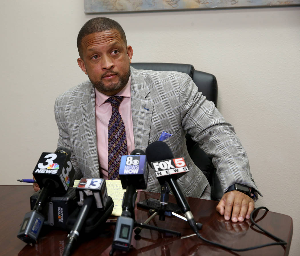 Attorney Marwan Porter, who represents the family of Cynthia Mikell, 61, who died in the Alpine ...