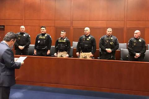 Three police K9 units from Arizona were deputized by the U.S. Marshals Service on Monday to hel ...