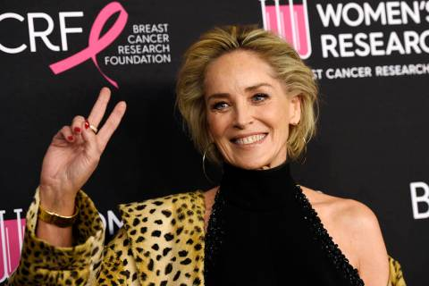 "FILE - In this Feb. 28, 2019, file photo, actress Sharon Stone poses at the 2019 ""An Unfor ..."