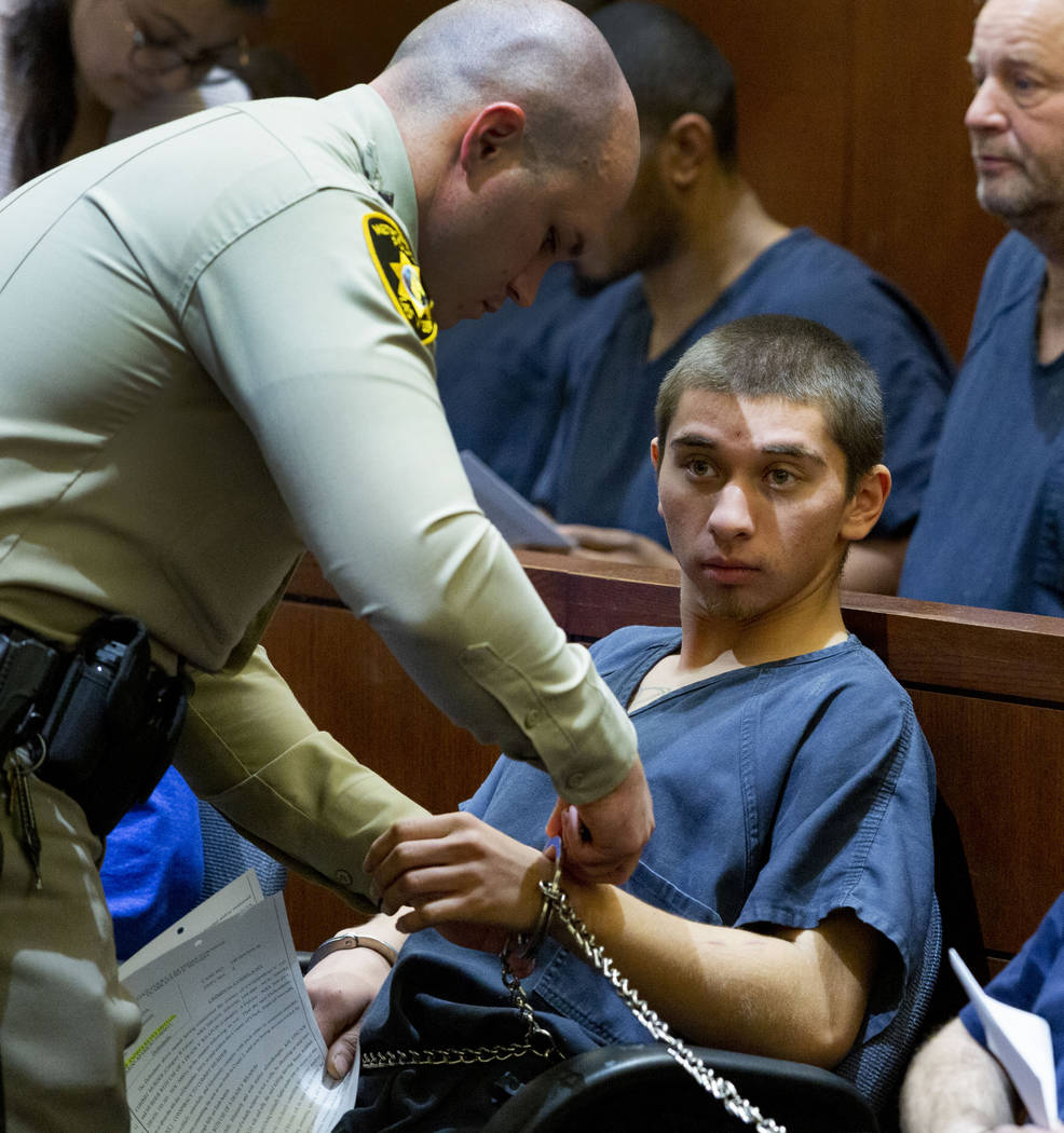 Oscar Reyes, 19, charged for murder, appears at his court hearing at the Regional Justice Cente ...