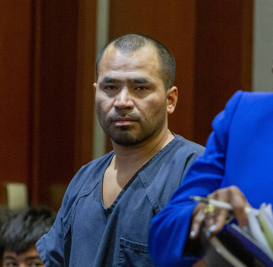 Gerardo Aparicio, 35, charged for murder, appears at his court hearing at the Regional Justice ...