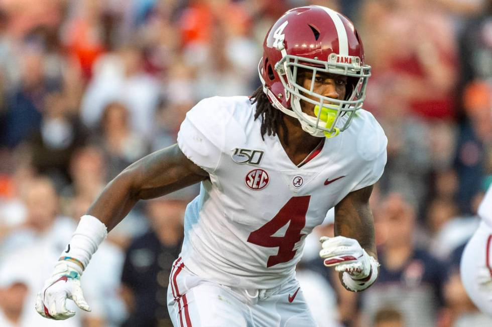 Alabama wide receiver Jerry Jeudy (4) during the first half of an NCAA college football game, S ...
