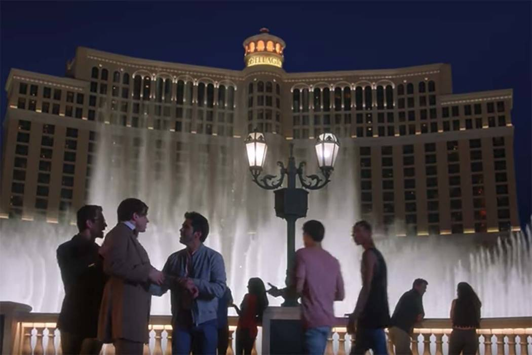 """Screen grab from a 2018 ad in the Las Vegas Convention and Visitors Authority's """"what happens ..."""