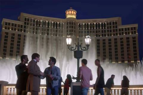 "Screen grab from a 2018 ad in the Las Vegas Convention and Visitors Authority's ""what happens ..."