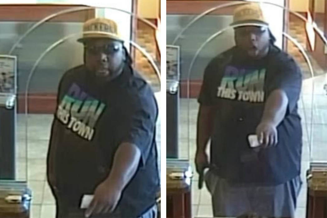Police are looking for this man in connection to an armed robbery Tuesday, Dec. 31, 2019, on th ...
