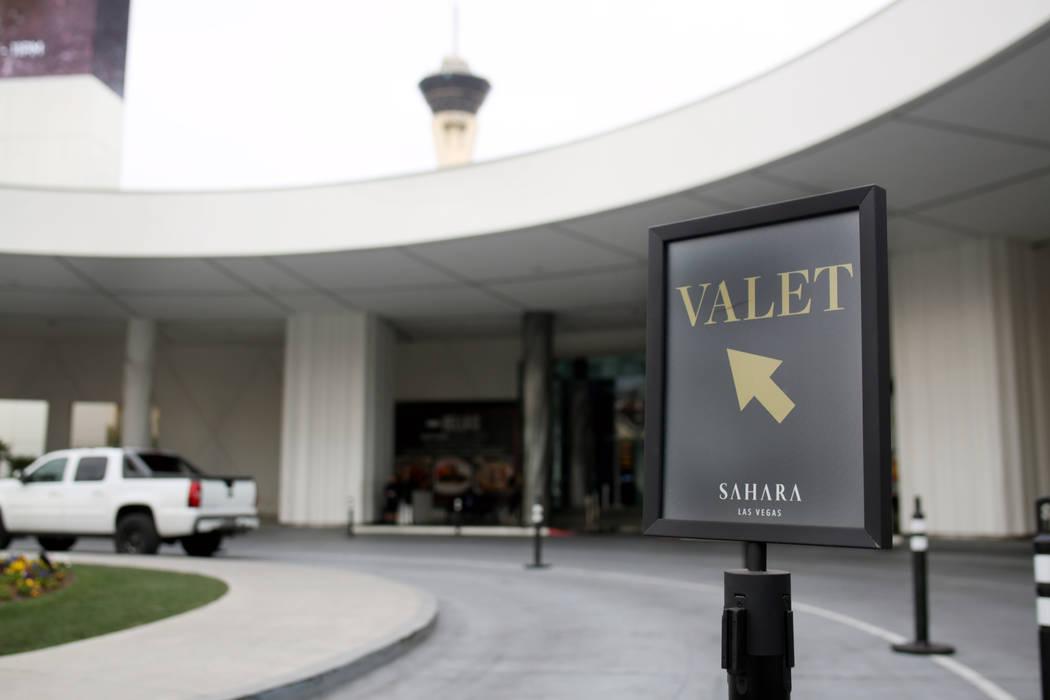 Free valet parking available at the Sahara Las Vegas on Friday, Dec. 20, 2019 in Las Vegas. Eli ...