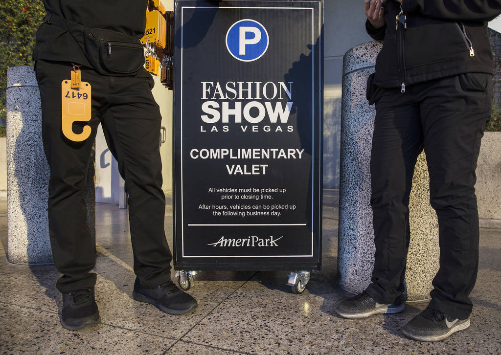 The Capital Grille offers one of five free valet locations at Fashion Show mall. Photo taken on ...