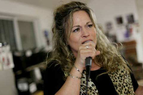 Elisa Fiorillo sings at a Bruce Harper Big Band practice session on Tuesday, Feb. 21, 2017, at ...