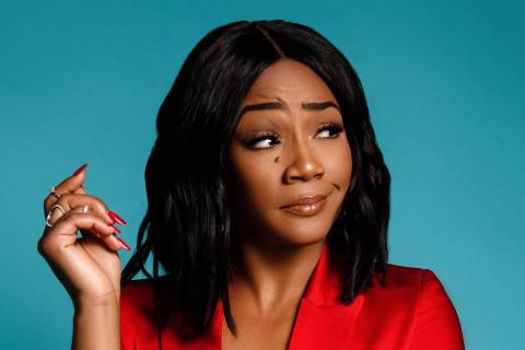 Tiffany Haddish performs stand-up at Saturday at Park MGM's Park Theater. (MGM Resorts Intern ...
