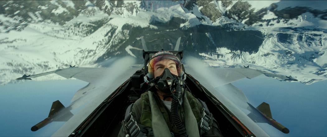 "Tom Cruise plays Capt. Pete ""Maverick"" Mitchell in Top Gun: Maverick from Paramount P ..."