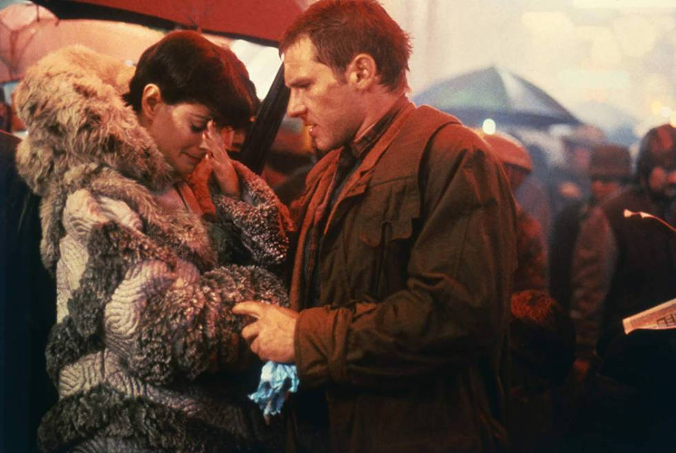 """Sean Young and Harrison Ford in """"Blade Runner."""" (Warner Bros.)"""