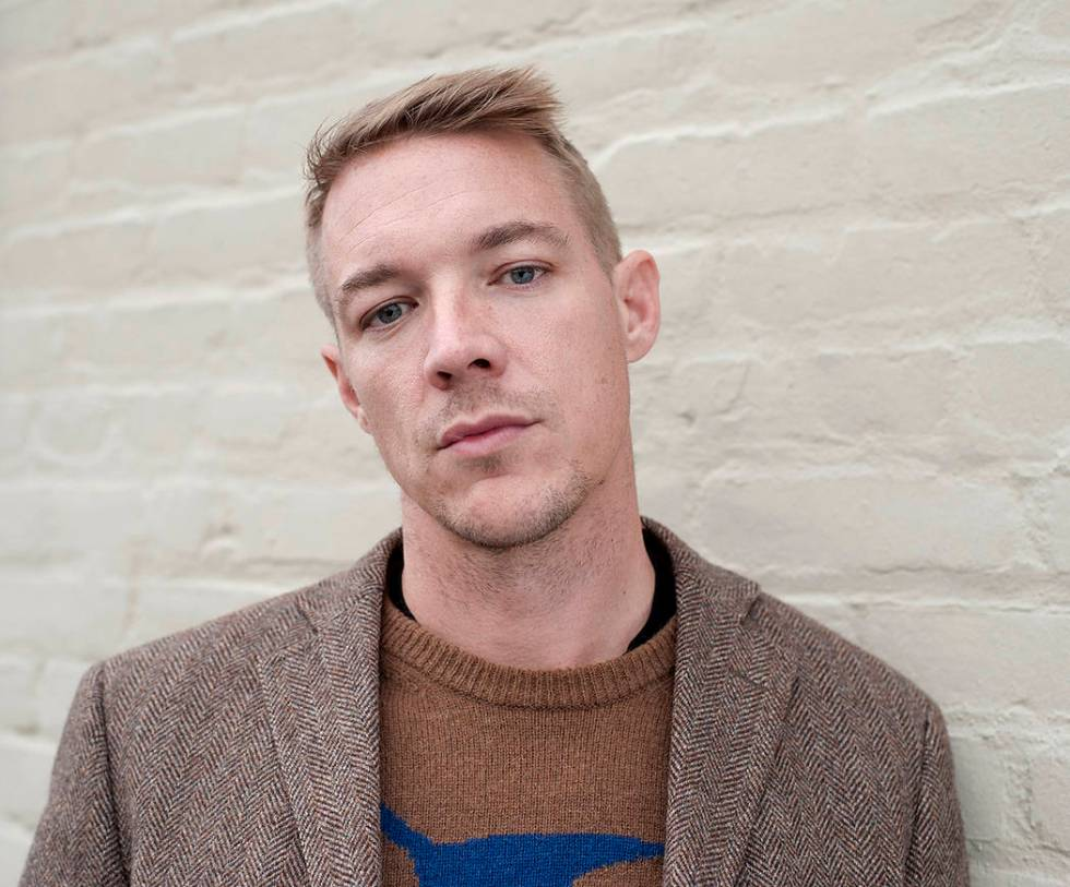 DJ and music producer Diplo poses for a portrait at the Mad Decent Studios on Thursday, Feb. 7, ...