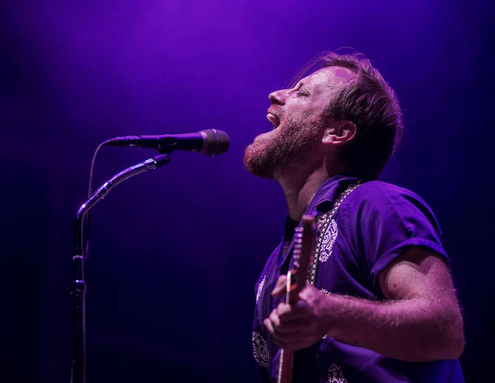 The Black Keys Dan Auerbach performs on the Downtown Stage during the second day of Life is Be ...