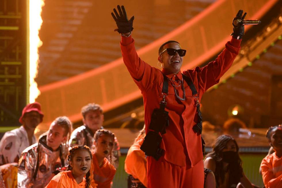 Daddy Yankee performs at the Latin American Music Awards on Thursday, Oct. 17, 2019, at the Dol ...