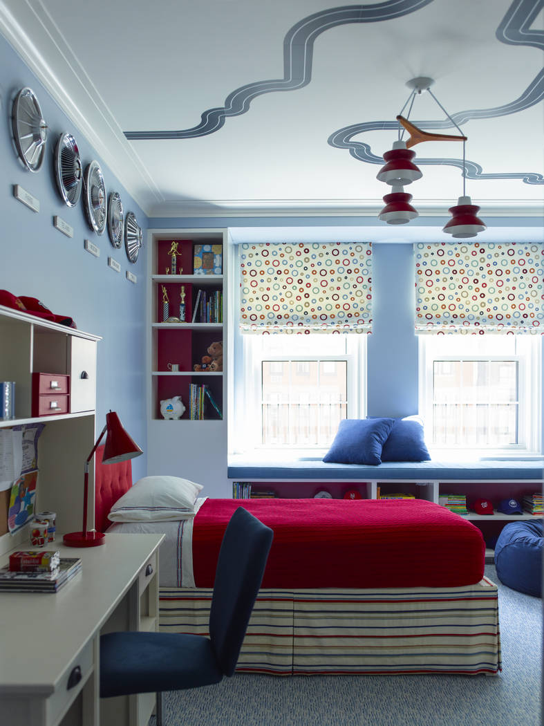 Parents can avoid complete room overhauls as their children age by avoiding dark-colored walls ...