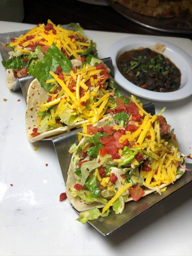 Tempura avocado tacos. (VegeNation)