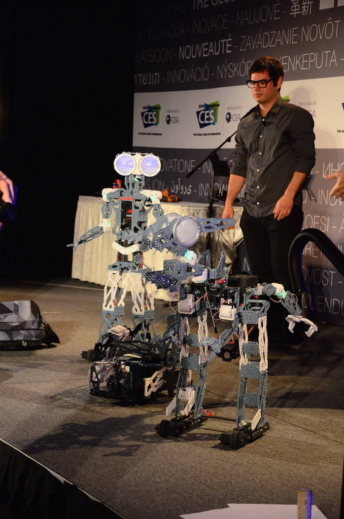 Meccano Spin Master's Meccanoid, a robot that users can build and program, won the live vote fo ...