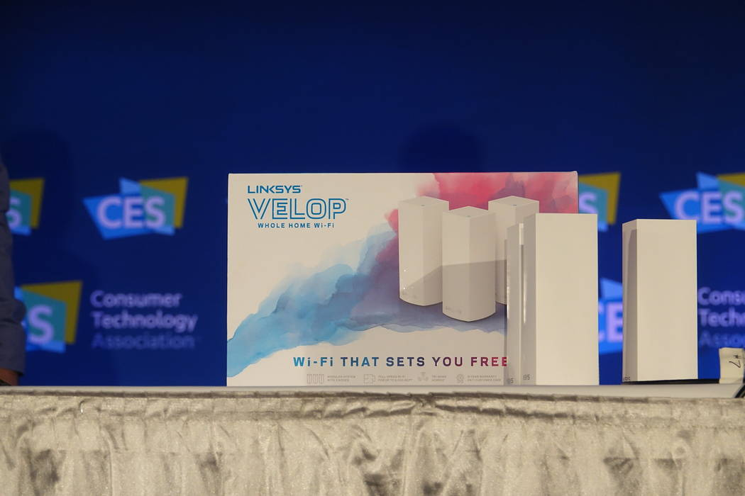 Linksys' Velop whole-home router was Last Gadget Standing winner at CES 2017. (Photo courtesy CES)