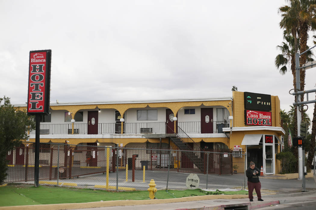 The Casa Blanca Hotel is pictured at 2401 N. Las Vegas Blvd. in North Las Vegas on Monday, Dec. ...