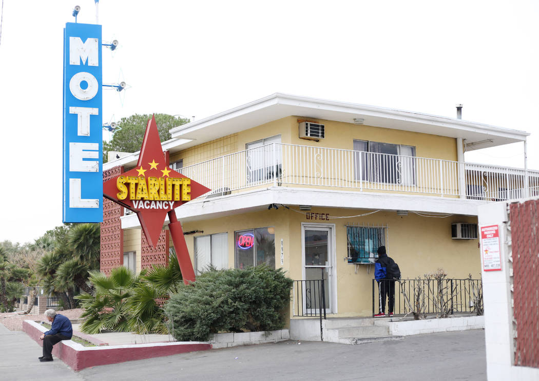 The Starlite Motel at 1873 N. Las Vegas Blvd. in North Las Vegas is pictured on Monday, Dec. 23 ...