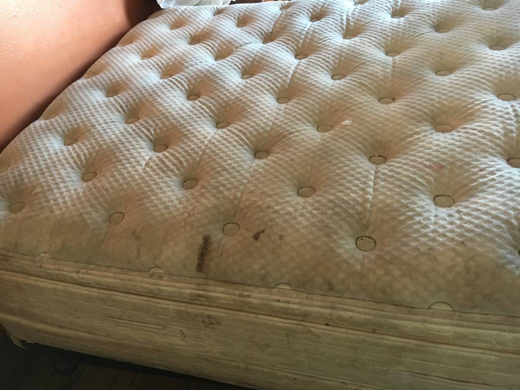 A mattress photographed by the Southern Nevada Health District during an inspection of the Star ...