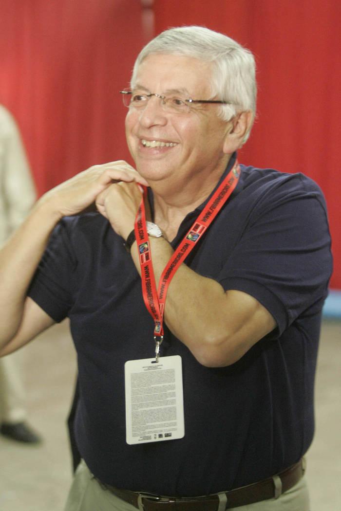 NBA Commissioner Davis Stern arrives at the Thomas & Mack Center Thursday, August 30, 2007, in ...
