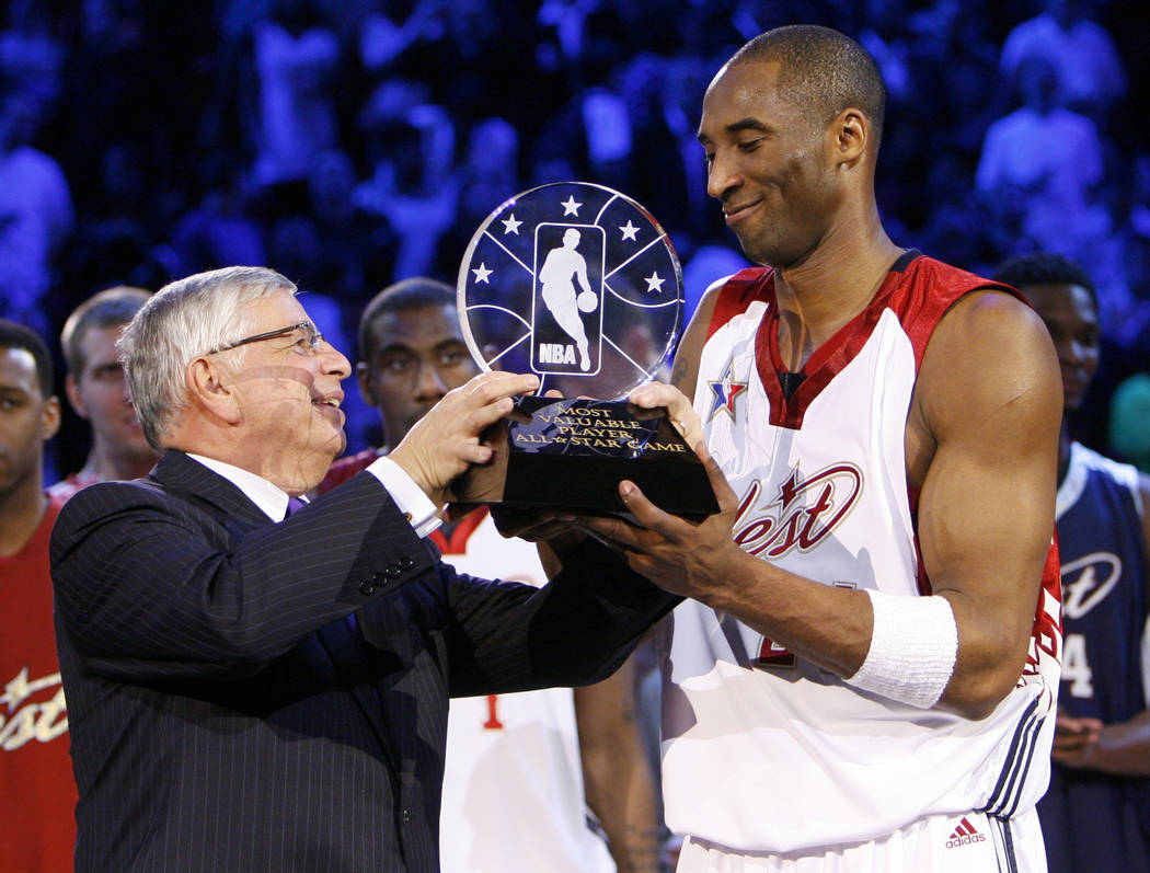 National Basketball Association Commissioner David Stern presents the most valuable player awar ...