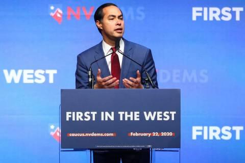 Democratic presidential candidate former U.S. Secretary of Housing and Urban Development Julian ...